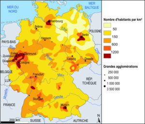 carte densite de population allemagne